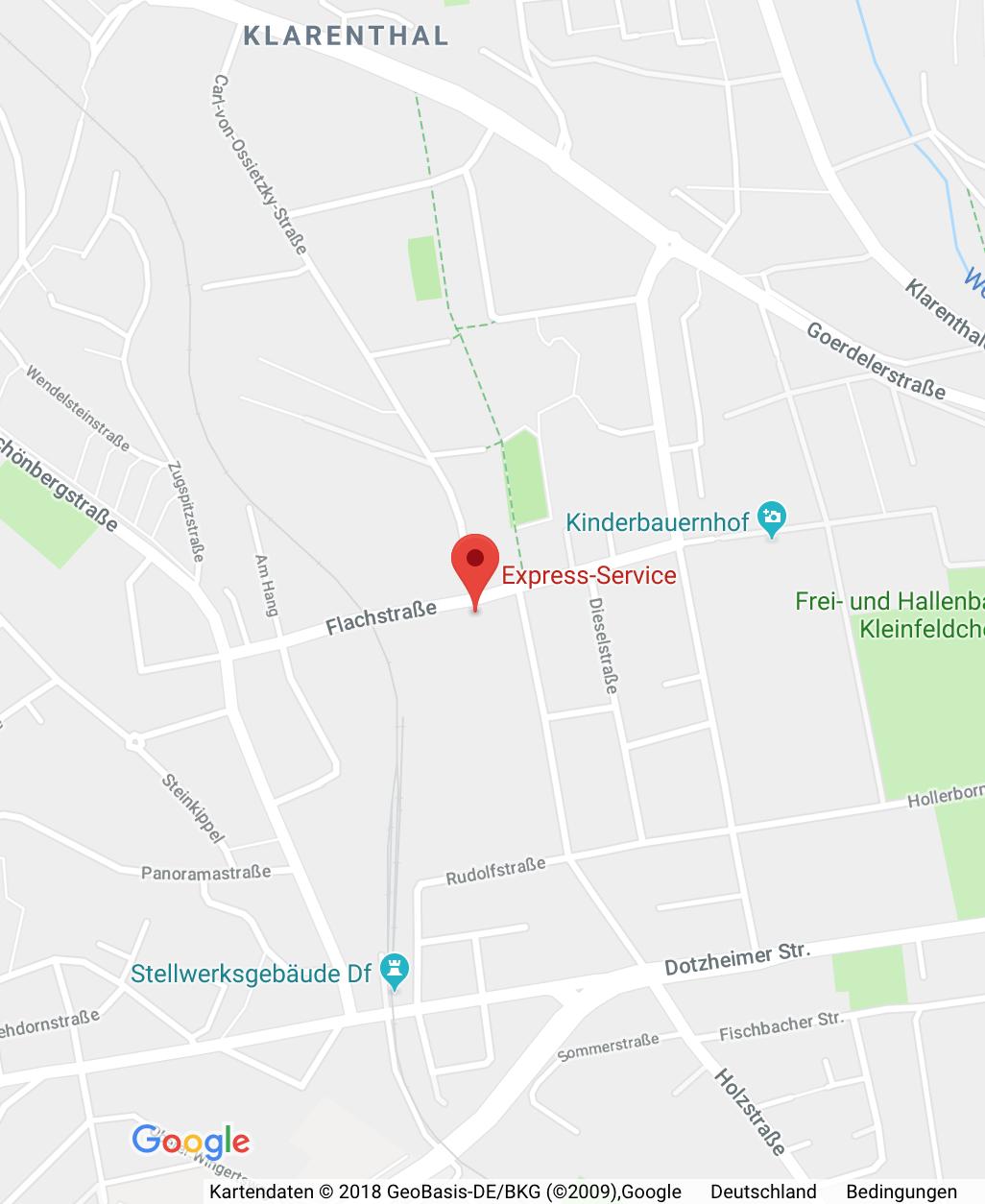 Schlüsseldienst Express Service, Google Maps, Location, GPS, Wiesbaden, Westcenter, Flachstraße, Sicherheitstechnik